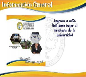 INFORMACIÓN GENERAL BROSHURE UNIVERSIDAD