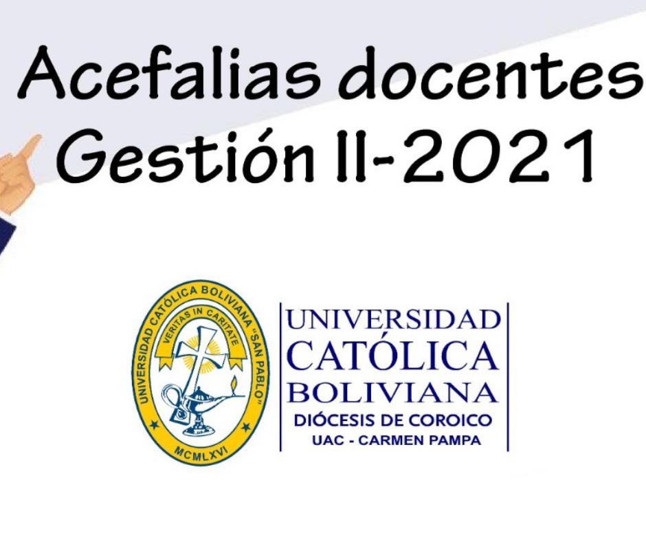 Convocatoria para Docentes II-2021